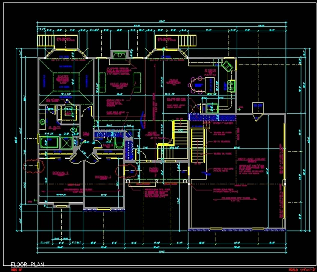 Cad building plans over 5000 house plans Autocad house drawings